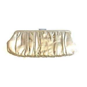 Danier gold clutch - genuine leather